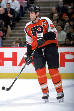 Eric Lindros playing for the Philadelphia Flyers